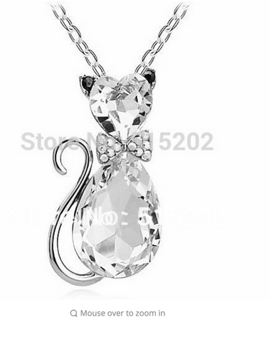 Fine Jewelry Cat Pendant
