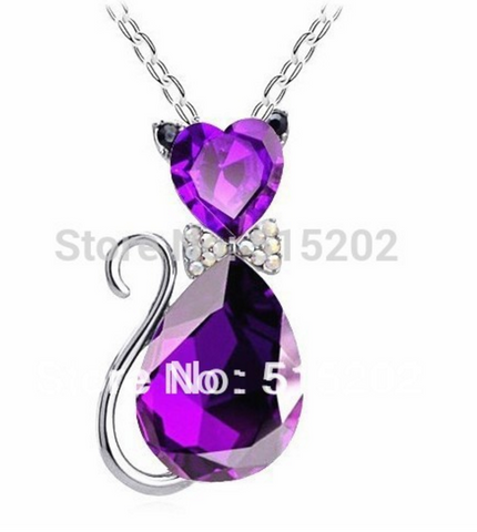 Purple Cat Necklace