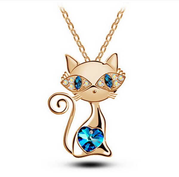 Gold Cat Necklace - Freebie