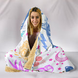 Spiritual French - Hooded Blanket