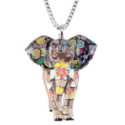 Elephant Enamel Necklace