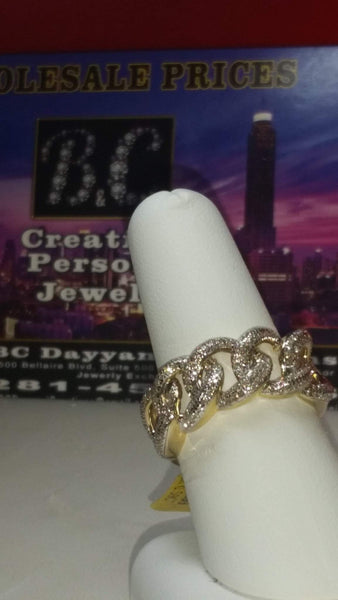 Cuban Link Diamond Ring