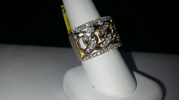 Cuban Diamond Ring