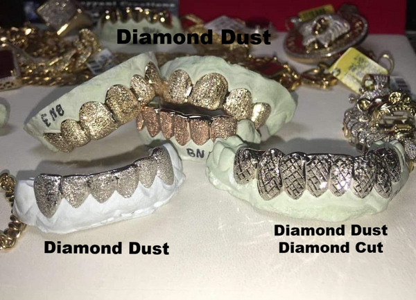 8 top 8 Bottom Custom White, Yellow or Rose Gold Joker Grill from Suicide Squad