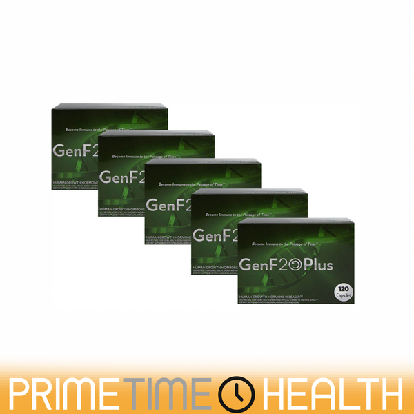 GenF20 Plus 5 Boxes Feel Young Again 600 Tablets Naturally Restore IGF1 Levels