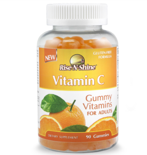 Rise-N-Shine 250mg Vitamin C Gummies For Adults Non GMO Gluten Free Pectin Based