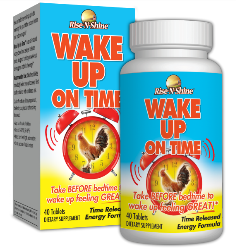 Rise-N-Shine, Wake Up On Time, Time-Released Energy Supplement, Alarm Clock Pill