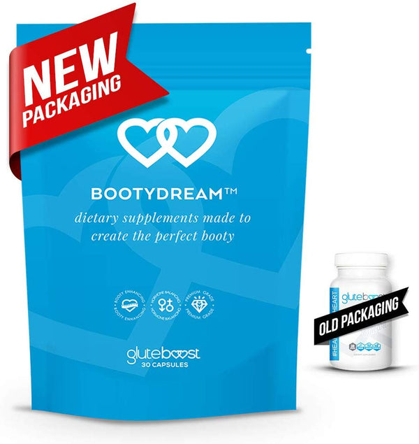BootyDream Butt Enhancement Pills For Booty by Gluteboost 30 Capsules 1 Month