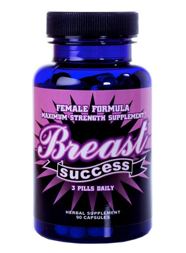 Breast Success 90 Capsules - Natural Breast Enhancement Formula for Women or Men
