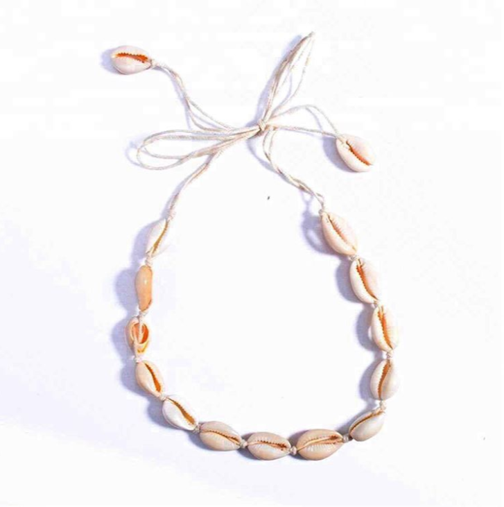 Sea Shell Choker Cowrie Adjustable Seashell necklace by vscohun