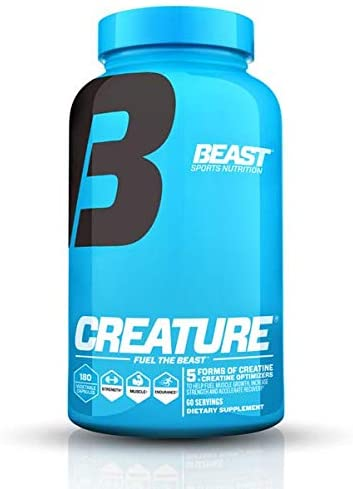 Beast Sports Creature Creatine, 5 Forms of Creatine – 60 Servings – 180 Capsules