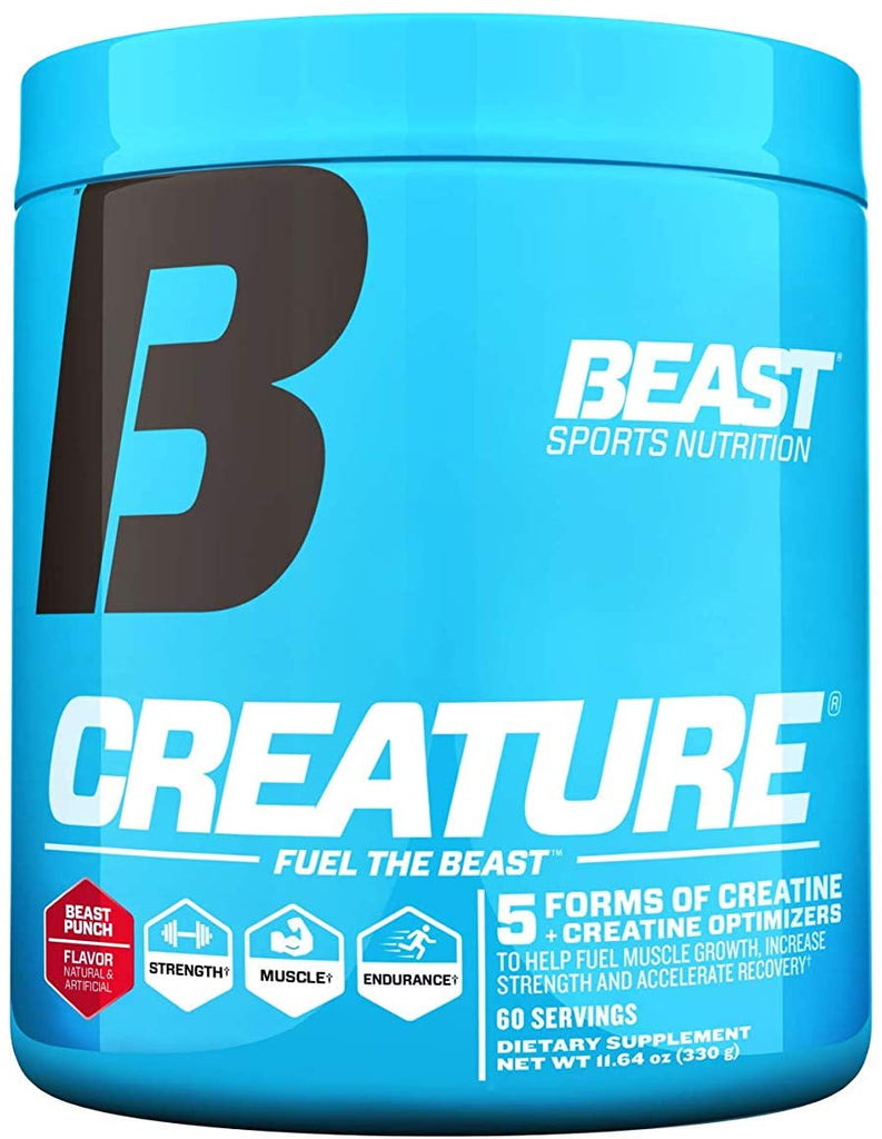 Beast Sports Creature Creatine Powder, Beast Punch, 60 Servings