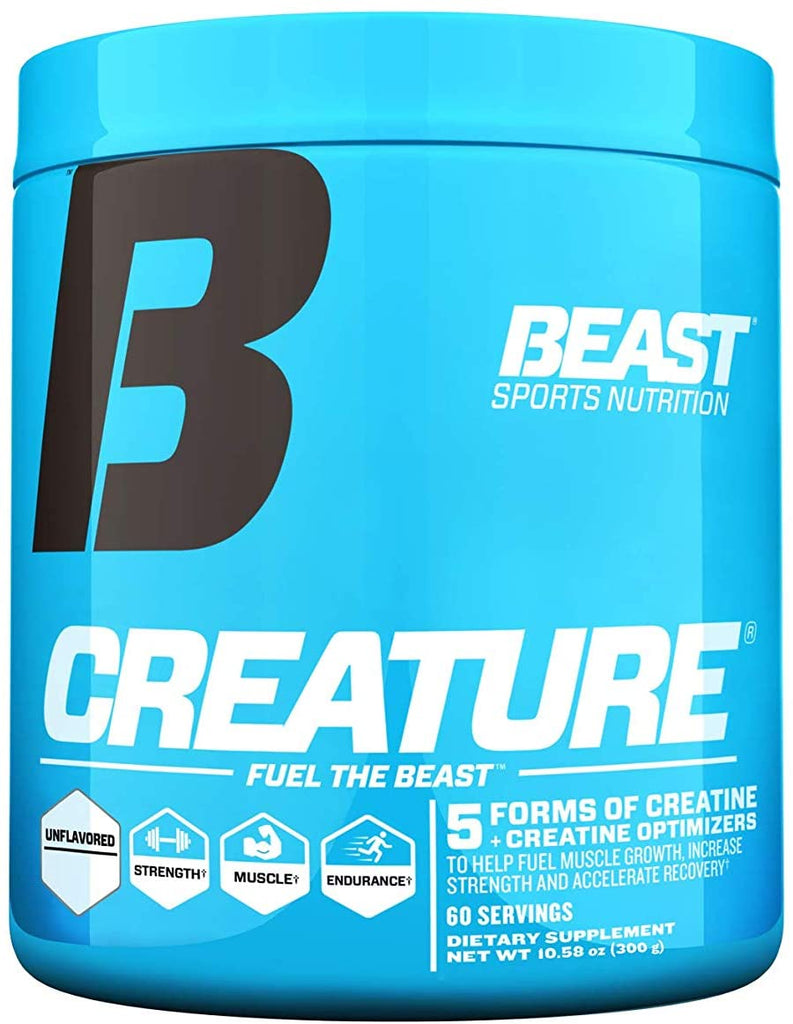 Beast Sports Creature Creatine Powder, Unflavored 60 Servings
