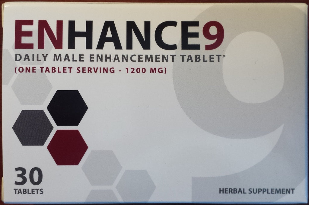 Enhance9 Increase Your Size, Better Sex, 30 Tablets 1200mg, Herbal Enhance 9