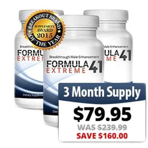 Formula 41 Extreme 3-Month Supply - 100% Genuine - Official Distributor of Formula 41 Extreme, Male Enhancement Testoste