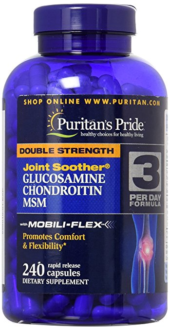Glucosamine, Chondroitin & MSM Joint 240 Capsules Puritan's Pride Double Strength