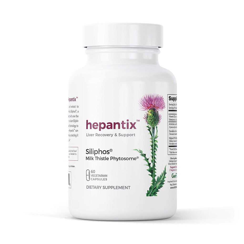 Hepantix Liver Recovery & Support, Siliphos Milk Thistle Phytosome - 60 Capsules
