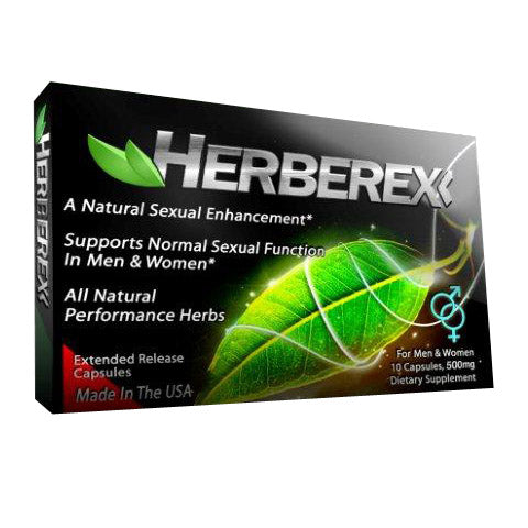 Herberex 10ct sexual enhancement pills male enlarging pills libido enhancement
