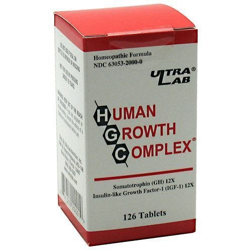 Human Growth Complex by Ultra Lab 126 Tablets Homeopathic Formula 42 day supply