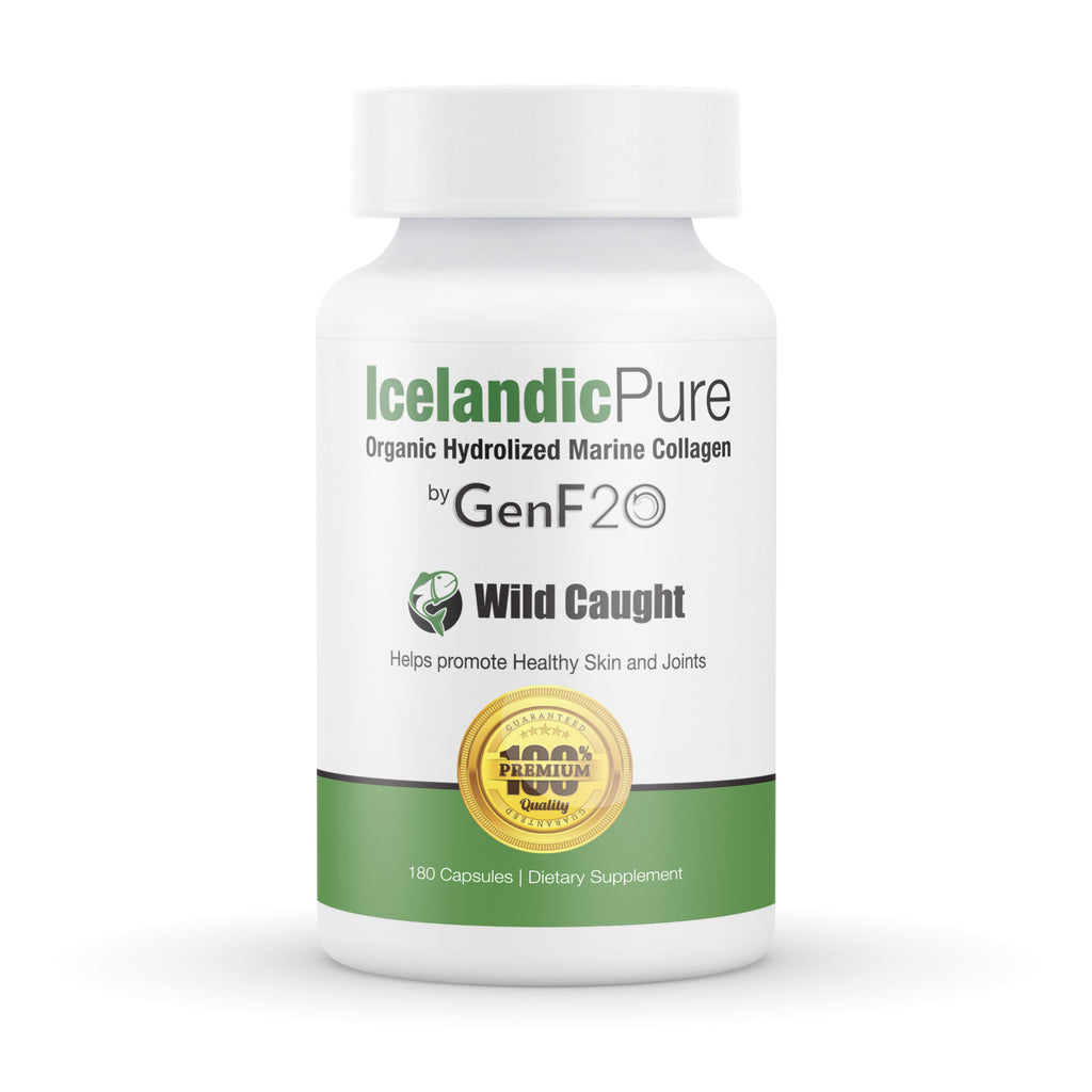 Icelandic Pure Hydrolyzed Marine Collagen by GenF20 Healthy Skin and Joints 180