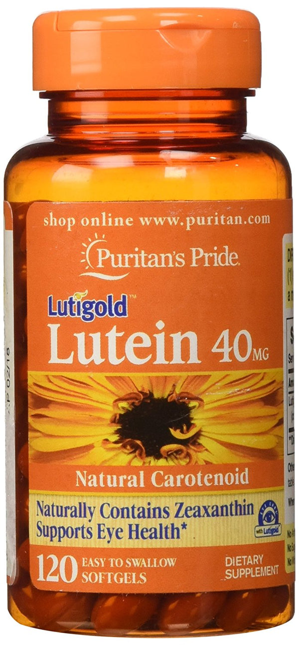 Lutein 40 mg with Zeaxanthin Puritan's Pride Natural Carotenoid 120 Softgels