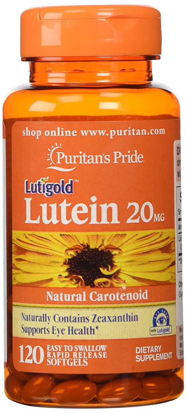 Lutein 20 mg with Zeaxanthin Puritan's Pride Natural Carotenoid 120 Softgels