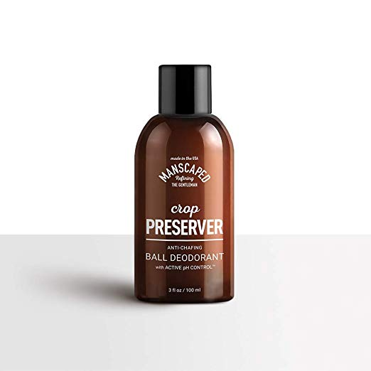 Manscaped Crop Preserver Ball Deodorant, Anti-Chafing Moisturizing, pH Balanced