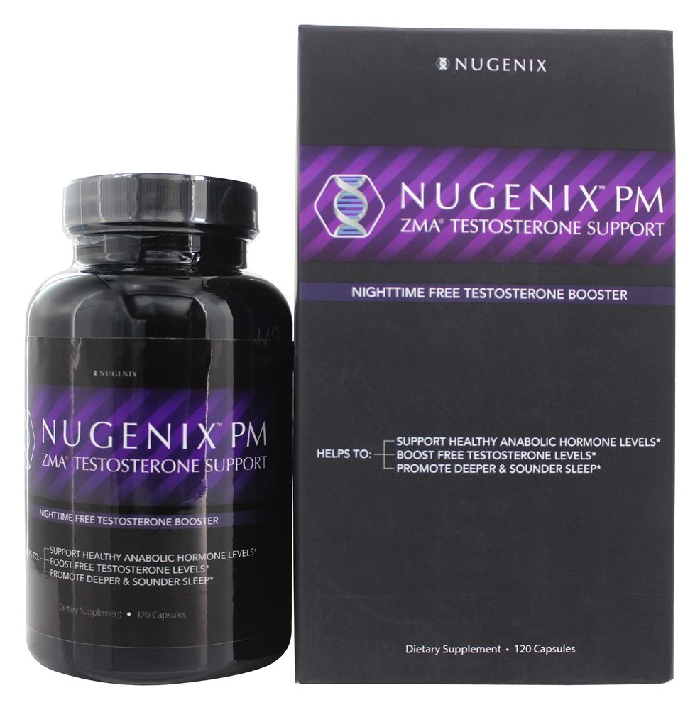 Nugenix PM ZMA Testosterone Support Nighttime Free Testosterone Booster 120 Caps