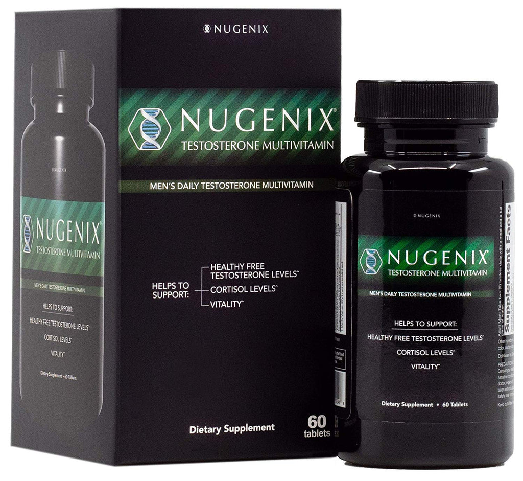Nugenix Testosterone Multivitamin, Promotes Vitality, Cortisol Levels 60 Tablets