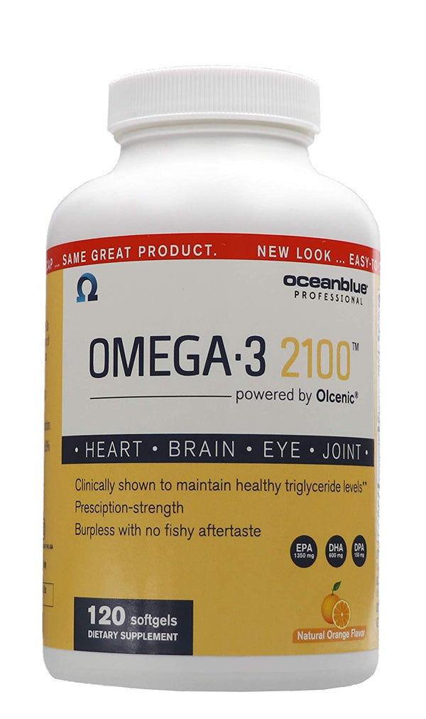 Ocean Blue Professional Omega-3 2100 with Olcenic Softgels, 120 Count