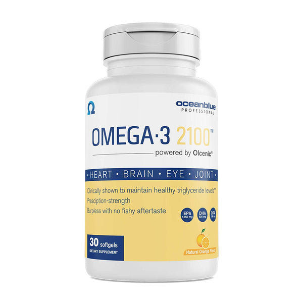 Ocean Blue Professional Omega-3 2100 with Olcenic Softgels, 30 Count