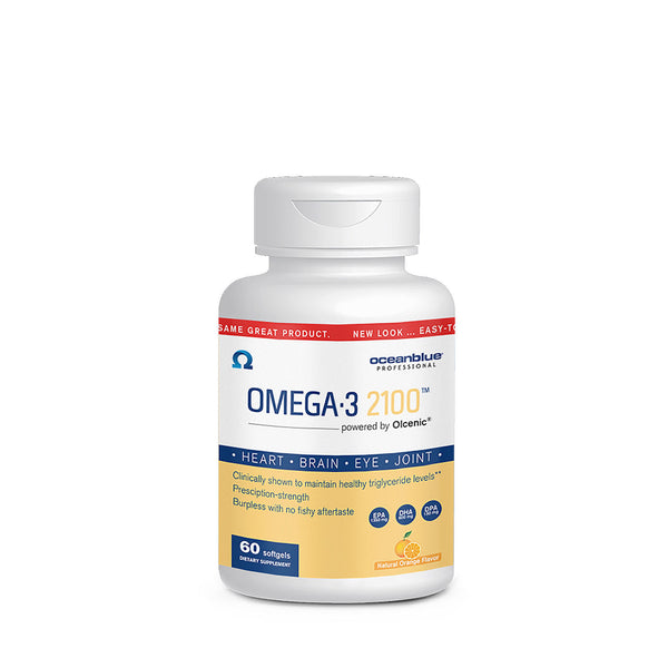 Ocean Blue Professional Omega-3 2100 with Olcenic Softgels, 60 Count