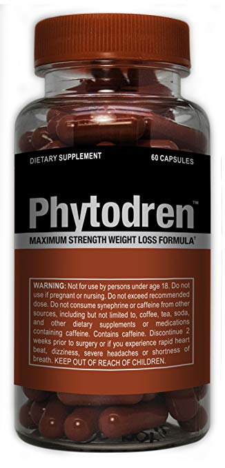 Phytodren - Maximum Strength Weight Loss Formula, Burn Fat, More Energy, 60 Caps