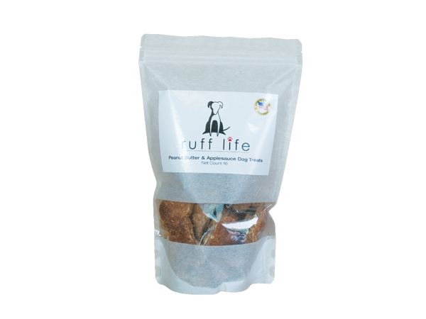 Ruff Life Peanut Butter and Applesauce Dog Treats Large 16 Bones All Natural