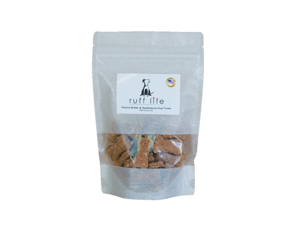 Ruff Life Peanut Butter and Applesauce Dog Treats Small 25 Bones All Natural
