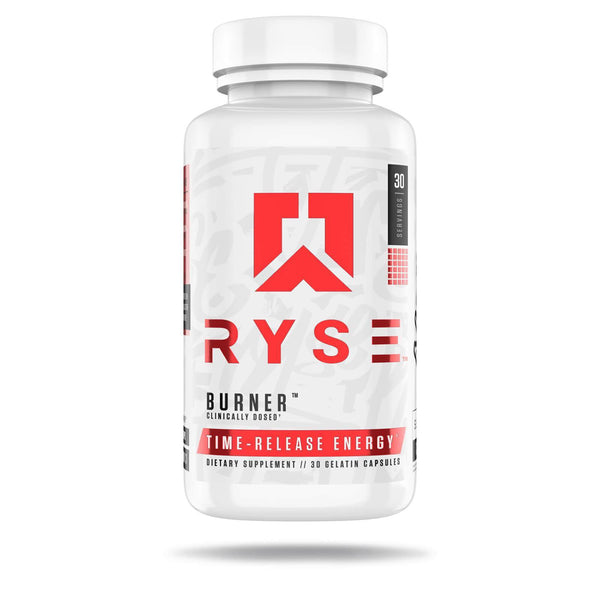 Ryse Burner | Ryse Up Supplements Fat Burner, Time-Released Energy | 30 Capsules