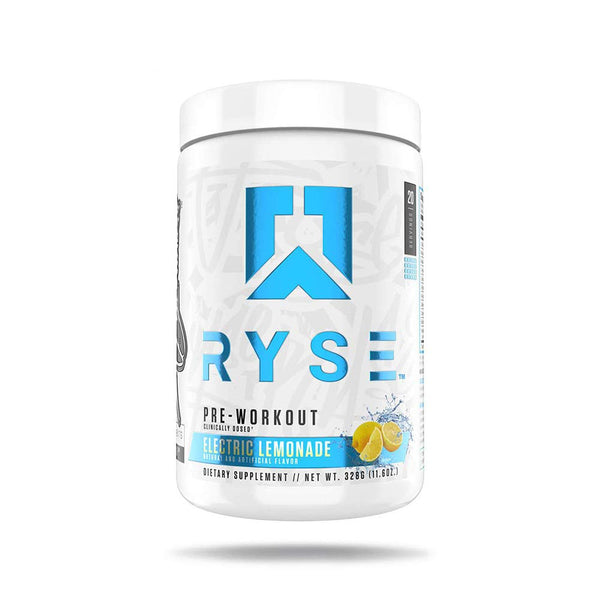 Ryse PRE Workout | Ryse Up Supplements | 20 Servings (Electric Lemonade)