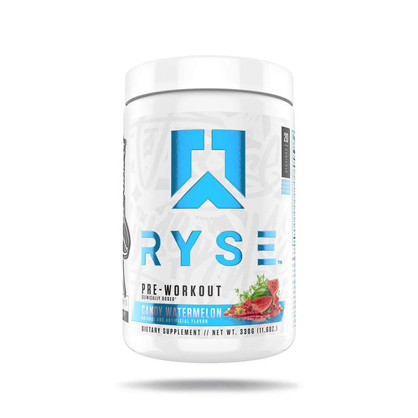 Ryse PRE Workout | Ryse Up Supplements | 20 Servings (Candy Watermelon)