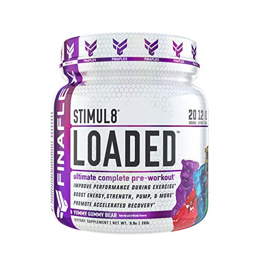 STIMUL8 Loaded by Finaflex Super Pre Workout Powder 20 Servings Gummy Bear