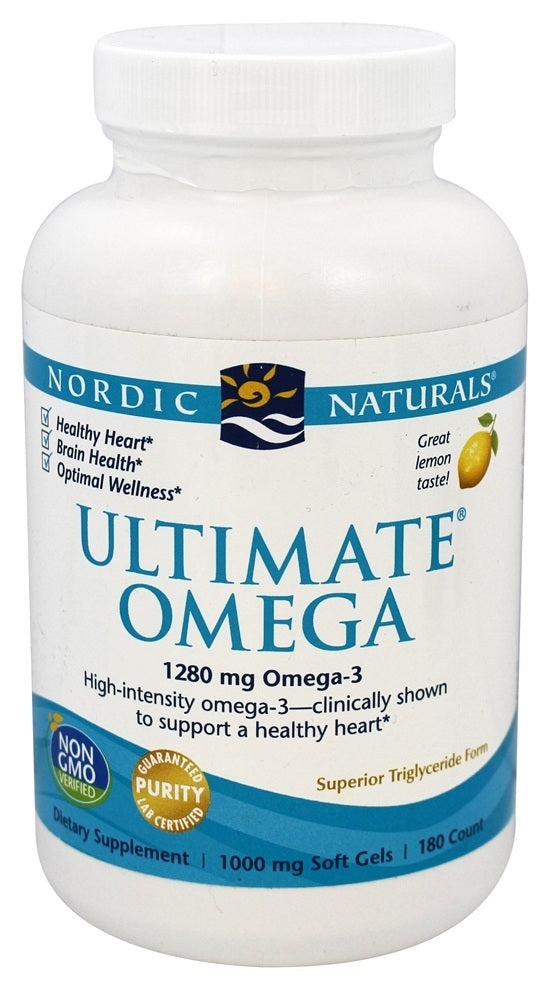 Ultimate Omega 1000 mg Nordic Naturals Support for a Healthy Heart 180 Soft Gels