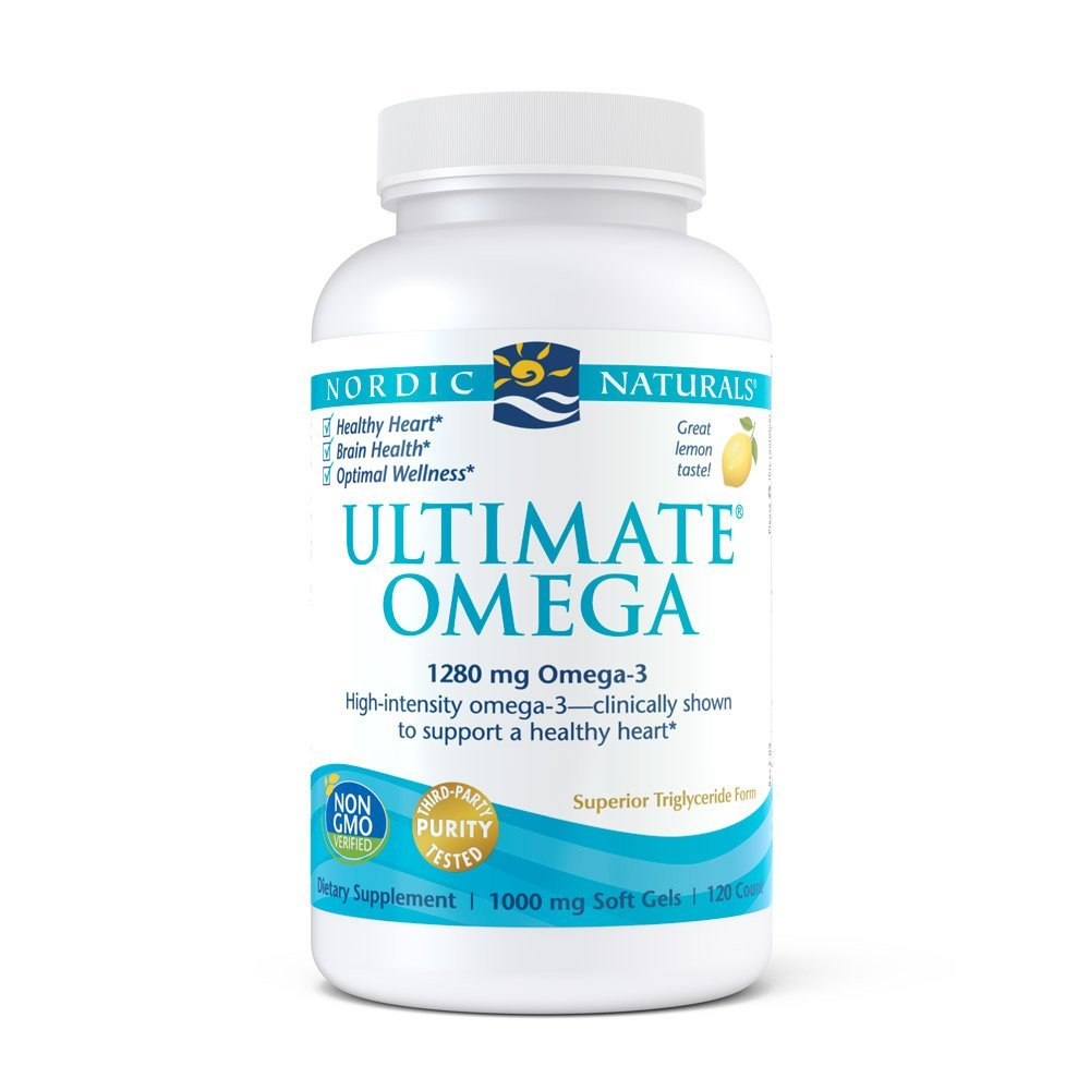Ultimate Omega 1000 mg Nordic Naturals Support for a Healthy Heart 120 Soft Gels
