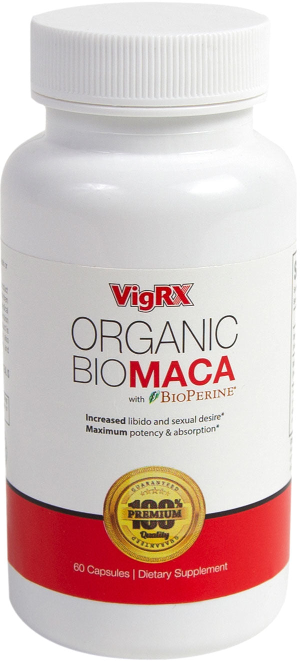 VigRX Organic Bio Maca with Bioperine Male Health Supplement 60 Capsules