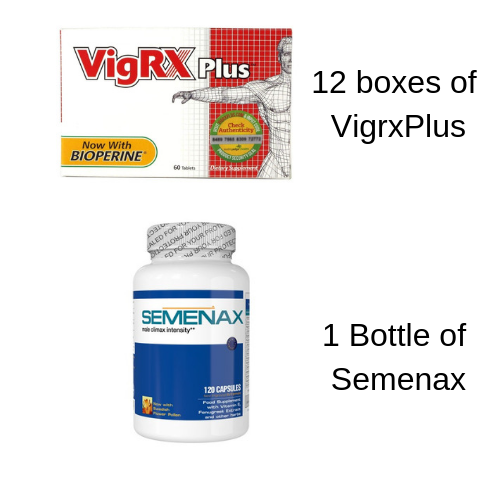 VigRX Plus 12 Month Male Virility Enhancement Pills+Free Semenax Volume Enhancer