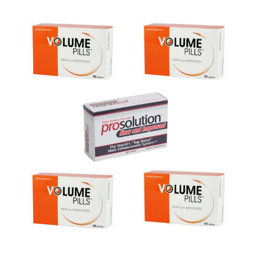 Volume Pills for Men, Male Enhancement, 4 Month Supply + FREE Prosolution Pills