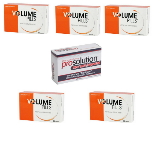 Volume Pills for Men, Male Enhancement, 5 Month Supply + FREE Prosolution Pills
