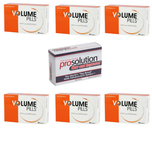 Volume Pills for Men, Male Enhancement, 6 Month Supply + FREE Prosolution Pills