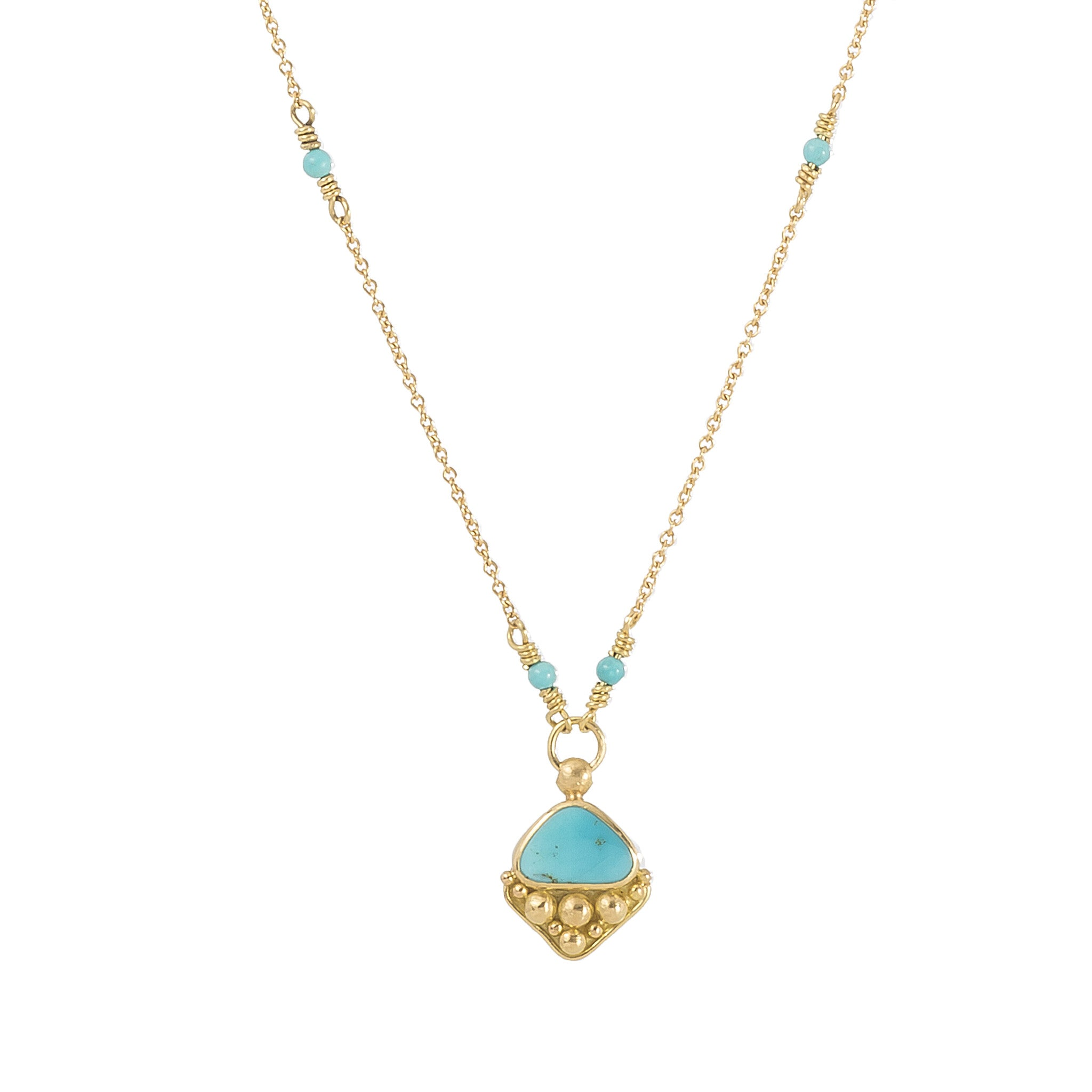 Granulated Turquoise Necklace