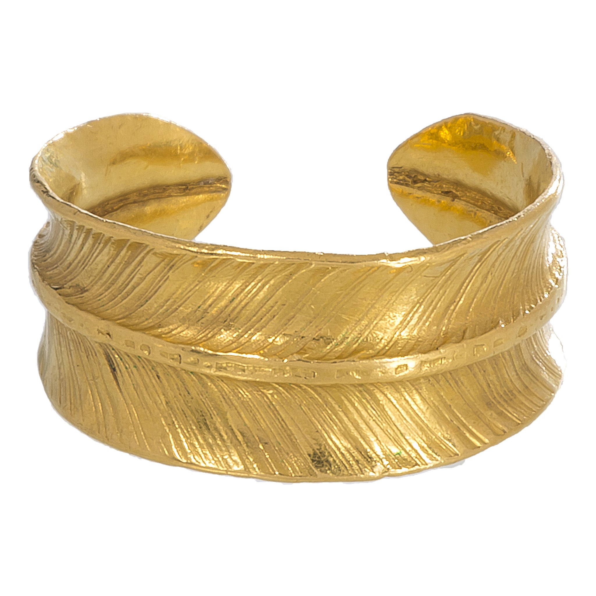 Gold Feather Ring | Rhus Typhina