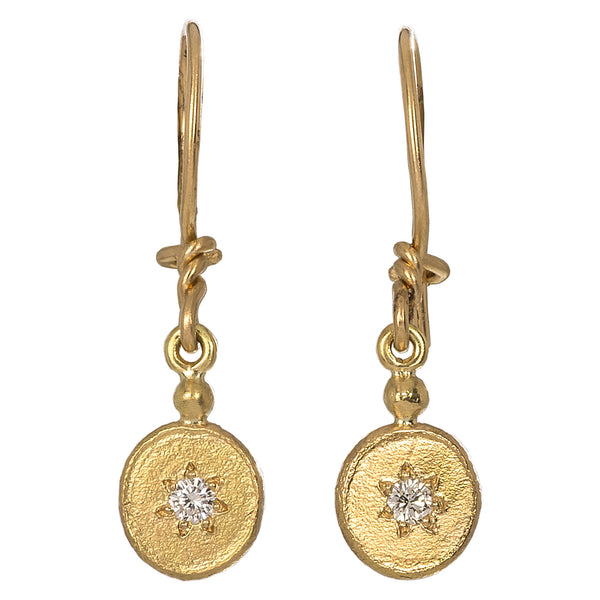 White Diamond Charm Earrings | Rhus Typhina