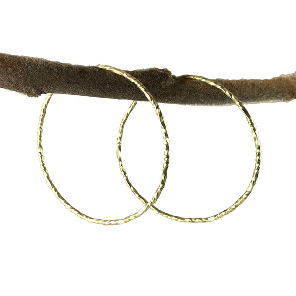 Twisty Hoops 18K Gold